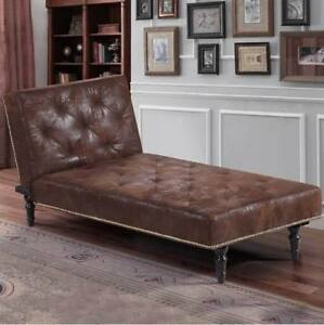 50 Off Luxury Vintage Brown Chaise Lounge Small Chair