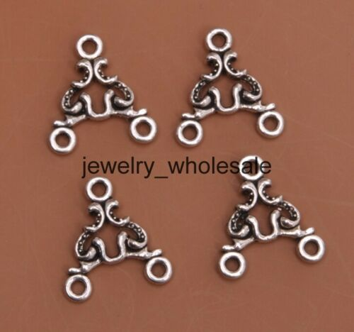 20pcs Tibetan Silver Charm Earring Connectors 16X15mm Jewelry Making D3073