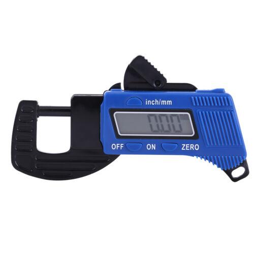 0-12mm Portable LCD Digital Thickness Gauge Meter Micrometer Tester Tool BS