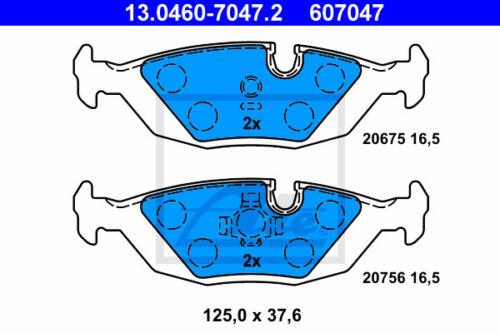 E23 HA für BMW 7 Beläge +WK Hinterachse ATE Bremsscheiben