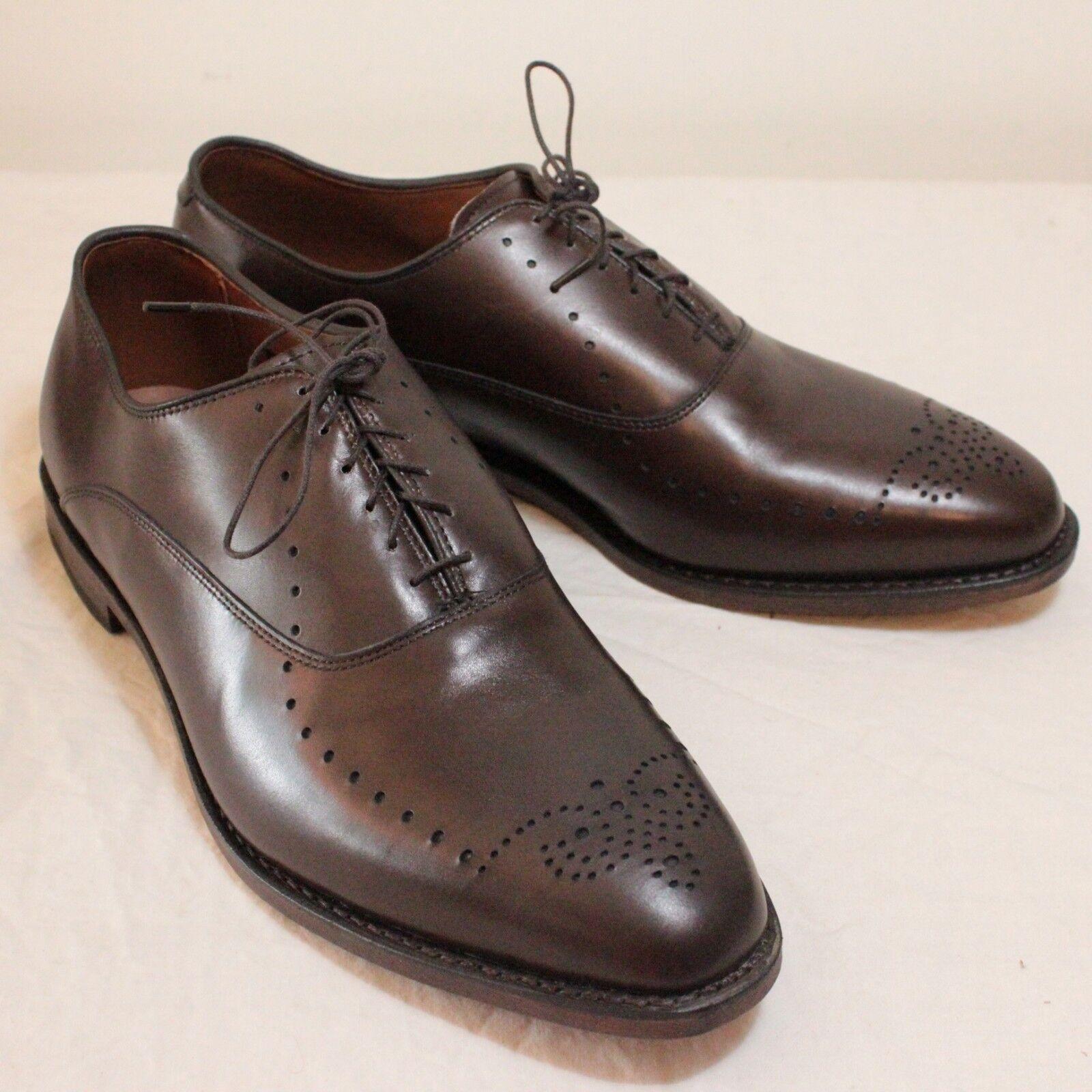 Mens Allen Edmonds Weybridge Mocha Marronee All Leather Oxfords Sz 11.5 3E