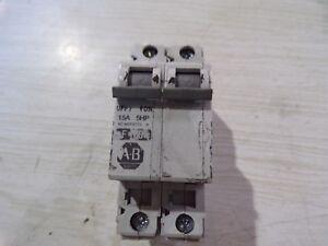 Cb2 Free Shipping >> Allen Bradley 1492 Cb2 15a 2 Pole Circuit Breaker Free Shipping Ebay