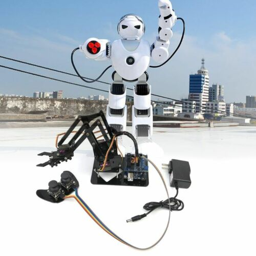 DIY Assembled Acrylic Mechanical Robot Arm Circuit Kits for Science Toy