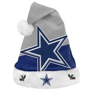 28bac60d4 Image is loading NFL-Dallas-Cowboys-Holiday-Christmas-Santa-Hat