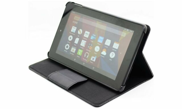 the latest 4203e 15f40 PU Leather Magnetic Stand Cover Case for Amazon Kindle Fire HDX 7