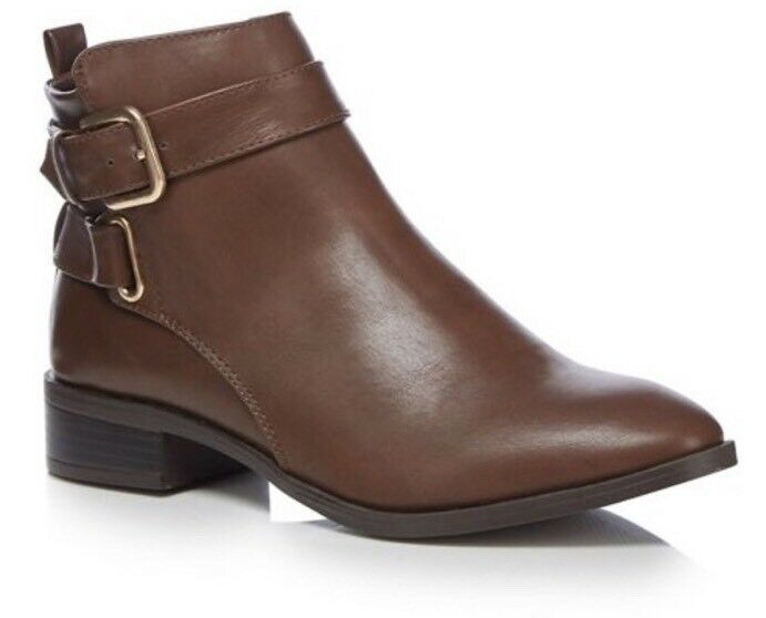 The Collection - Brown 'Crawford' Buckle Ankle Boots Uk Size 6