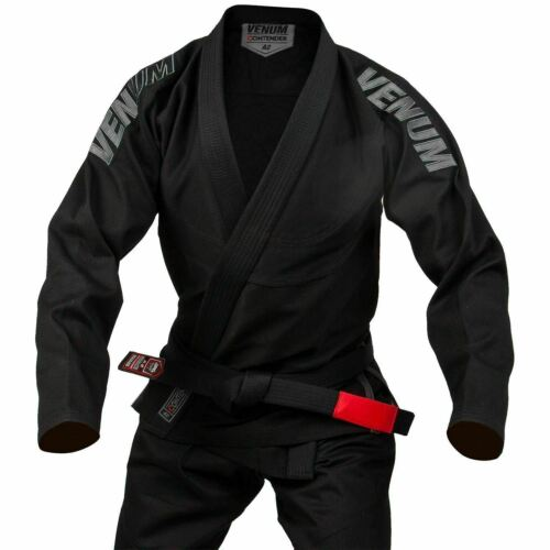 Venum Contender EVO BJJ Gi Jiu Jitsu Suit Pearl Weave Uniform Mens Black White