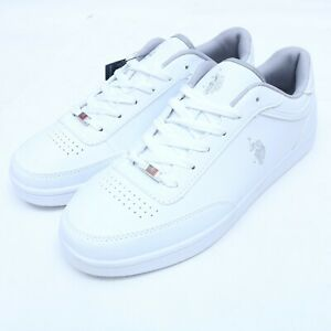 US Polo Assn White Athletic Shoes Size 7-13