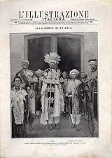 [BGY] L'ILLUSTRAZIONE ITALIANA 1909 N°7 - ETIOPIA IL NEGUS NEGHESTI MENELIK