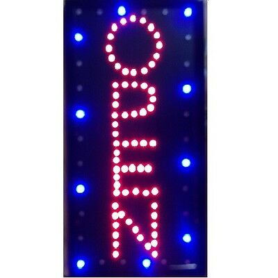 Animated Motion Led Business Vertical Open Sign On Off