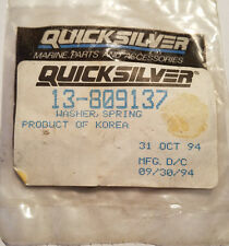 New Old Stock OEM Quicksilver 13-809137 Mecury Mercruiser Spring Lock WASHER