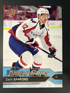 2016-17 Zach Sanford UD Young Guns Rookie