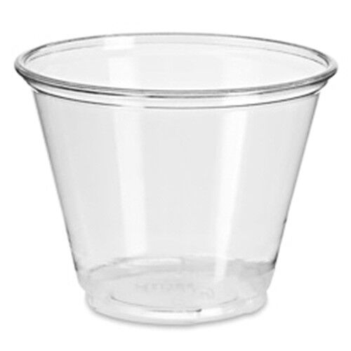 500 x Clear Squat Plastic Smoothie Cups 9oz 9oz 9oz / 255ml Dessert Milkshake Cups 71da4e