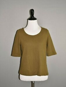 POSTMARK-ANTHROPOLOGIE-58-Green-Textured-Cropped-Zipper-Top-Small