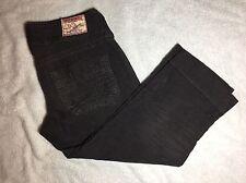Womens True Religion Sammy Crop Big T Bown Corduroy Capri Pants - Size 26 - EUC