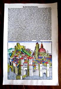 Facsimile 1493 AD THE NUREMBERG CHRONICLE
