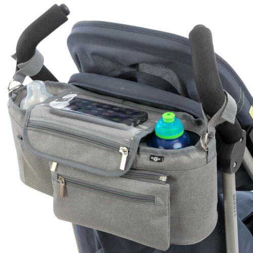 BTR Buggy Organiser Pram Caddy Bag with Detachable Purse /& Mobile Phone Holder