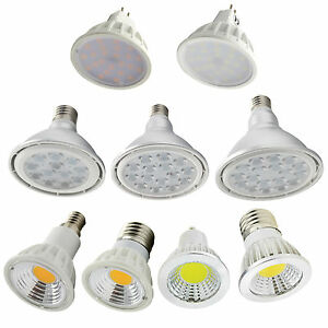 LED-Bulbs-E27-E14-GU10-MR16-CREE-SMD-COB-Lamps-7-9-12-15-18-24-30-36w-Spot-Light