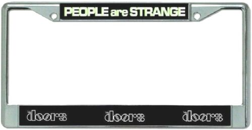 The Doors People Are Strange Metal Chrome License Plate Frame
