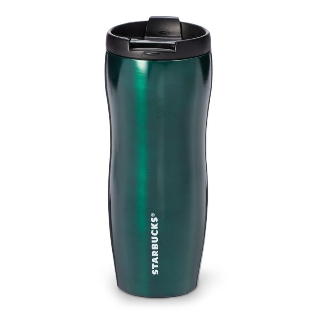 60bae78b63d Starbucks Coffee Classic Stainless Steel Lucy Slim Travel Mug Tumbler - 12oz