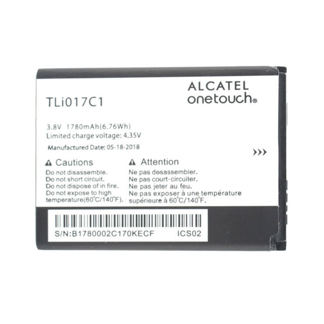 OEM TLi017C1 Battery For Alcatel One Touch Greatcall Graphite Flip Phone  1780mAh