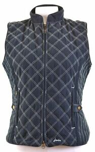 JOULES-Womens-Quilted-Gilet-UK-12-Medium-Navy-Blue-Polyester-CJ18