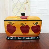 Country Apple Bread Box, New, Free Shipping on Sale