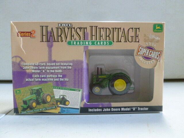 ERTL Harvest Heritage Trading Cards with John John John Deere Model D Tractor 507dbf