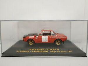 1-43-LANCIA-FULVIA-COUPE-HF-LAMPINEN-1972-RALLYE-IXO-RALLY-CAR-ESCALA-DIECAST