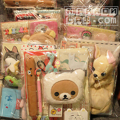 10 Item 2018 Fukubukuro Plush Stationery Lucky Bag Cute Kawaii Surprise Grab lot