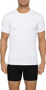 Calvin-Klein-Men-039-s-Undershirts-Cotton-Stretch-2-Pack-Crew-Neck-White-M-NB1178