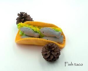 Felt Food Fish Taco Play Pretend For Kitchen Toy Ebay