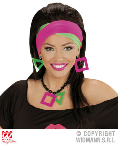 NEON Headwraps x 2 80 S 90 S Party Rave Costume Accessorio