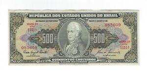 500-Cruzeiro-Bresil-1960-c103-p-164d-Brazil-billet