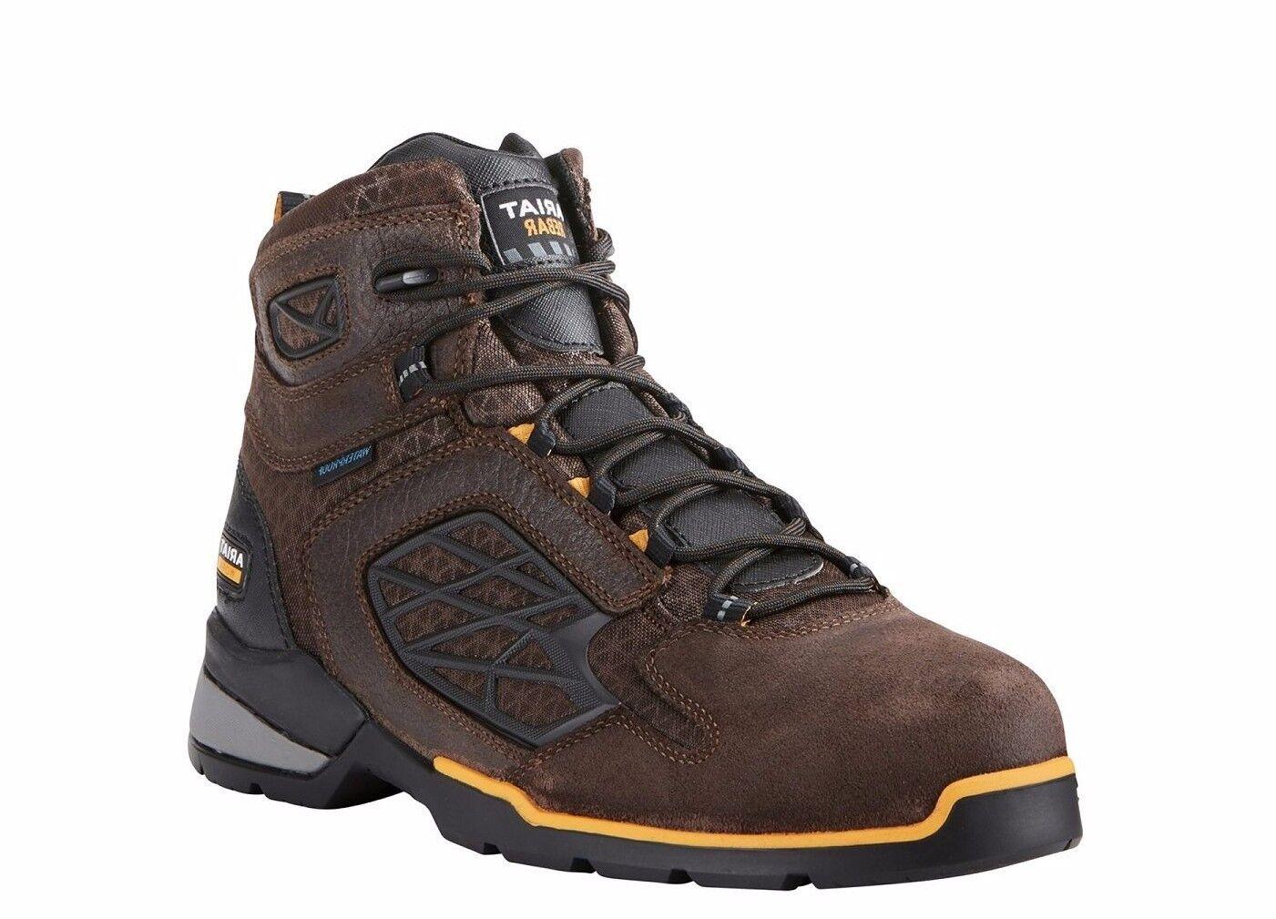 Ariat® Men's Rebar Flex H2O Chocolate Composite Toe Work Boot 10021498