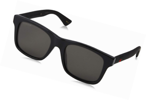 1196f9a488a Image is loading Gucci-GG0008S-Sunglasses-002-Black-Grey-Polarized-Lens-