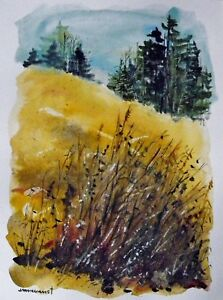 Original-WINTER-watercolor-impressionist-painting