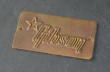 1950's Gibson Brass Guitar Case Badge 1956 1957 1958 1959 1961 0405B1