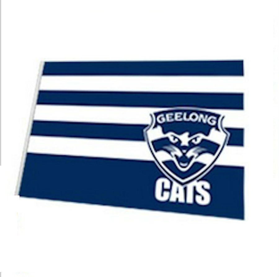 Official Afl Geelong Cats Large Flag No Stick Flag Pole Ebay