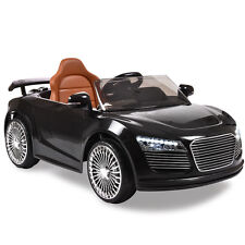 Charming 12V Kids Ride On Car Audi R8 Style Remote Control RC Bright Lights   Black