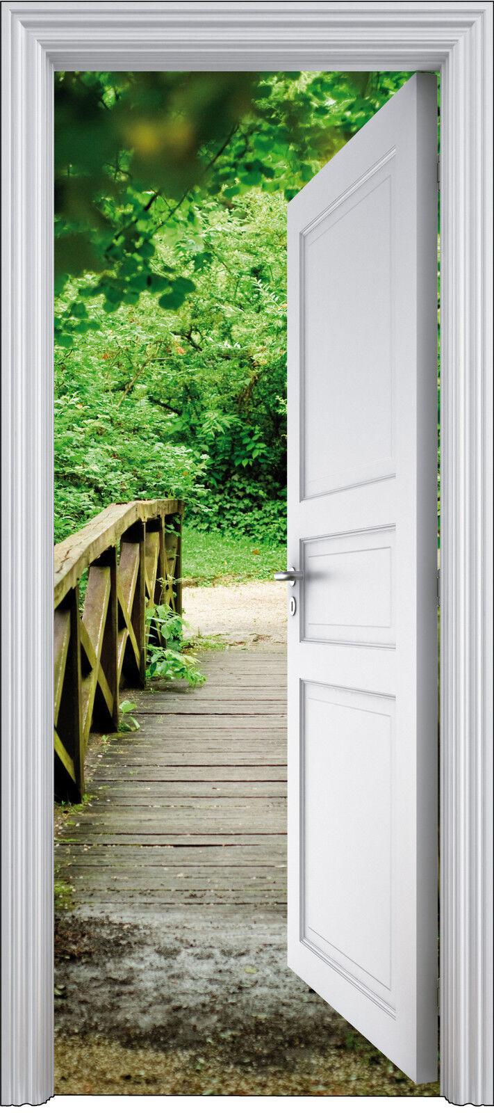Aufkleber Tür Schein Auge Weg 90x200 cm Ref 305
