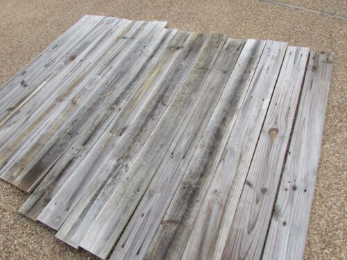 "68"" Weathered Barn Wood 15 Fence Boards Planks Reclaimed Old Fence Wood Boards"