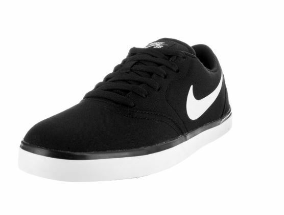 Men's Nike SB Check Canvas Skate Shoe Black/White 705268 004