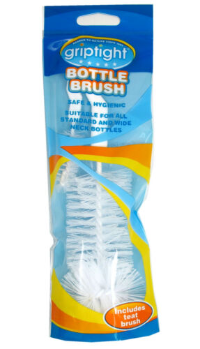 Multi purpose Baby Bottle Cleaning Brush and Teat Cleaning Brush Griptight