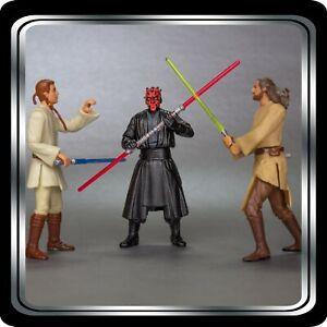 Loose Star Wars Action Figure Lot: Duel of the Fates- Darth Maul v Kenobi & Jinn