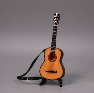 1//6 Scale Handmade wooden Red color Folk electric guitar model instrument