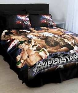 Image Is Loading Wwe Single Size Bed Doona Quilt Cover Wrestling