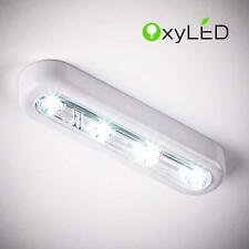 Wireless Cordless 4-LED Touch Light Batteries Powered Stick Tap Lamp White New