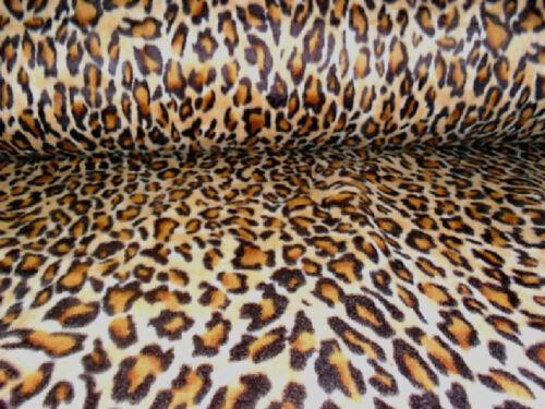 suave y lavable 60 pulgadas de ancho de impresión de leopardo Polar Fleece Material Tela