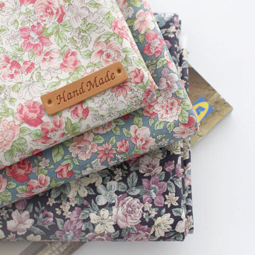 """Cotton Fabric flower 3color Fabric by the Yard 44/"""" Wide cozy rose garden Flower"""